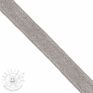 Lemovací guma glitter 20 mm grey