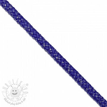 Šnůra Lurex 10 mm cobalt