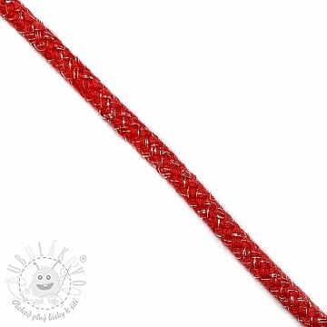 Šnůra Lurex 10 mm red