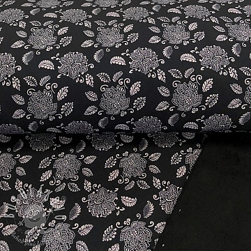 Softshell zimní Lotus flower black