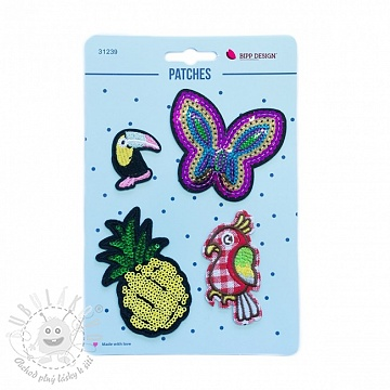 Sticker BIPP Butterfly Pineapple