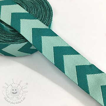 Stuha Chevron mint