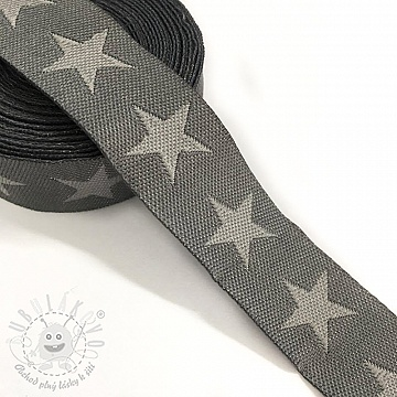 Stuha Stars dark grey/light grey