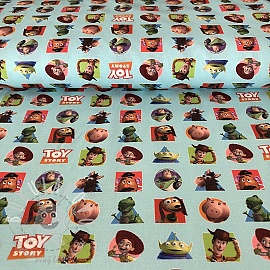 Bavlněná látka Toy Story patch digital print