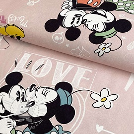 Dekorační látka Mickey Mouse I love you digital print