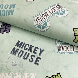Dekorační látka Mickey Mouse Movie banner green digital print
