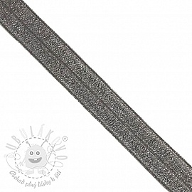 Lemovací guma glitter 20 mm anthracite