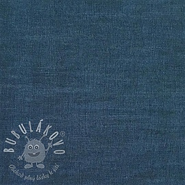 Linen enzyme washed blue