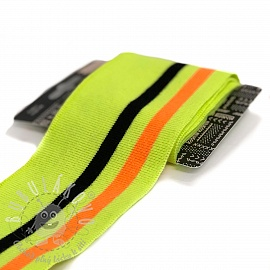 Náplet hladký CUFF Stripe NEON yellow black