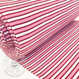 Náplet hladký Stripe variable pink white