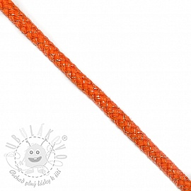 Šnůra Lurex 10 mm orange