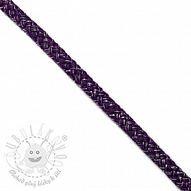 Šnůra Lurex 10 mm purple
