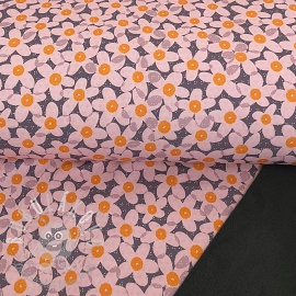 Softshell zimní Lovely flowers dark grey