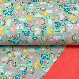 Softshell zimní Shine bright like the rainbow aqua digital print