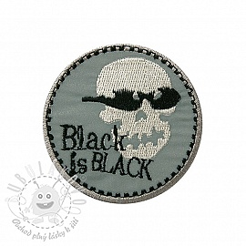 Sticker BASIC Black is black REFLEX