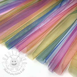 Tyl na TUTU Rainbow DARK MULTI