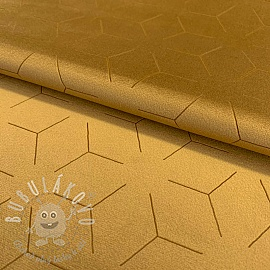 Velur DELUXE laser print golden yellow